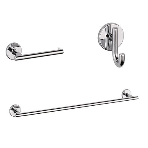 Delta Trinsic Chrome BASICS Bathroom Accessory Set Includes: 24