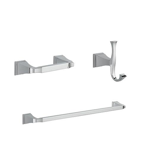 Delta Dryden Chrome BASICS Bathroom Accessory Set Includes: 24