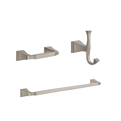 Delta Dryden Stainless Steel Finish BASICS Bathroom Accessory Set Includes: 24