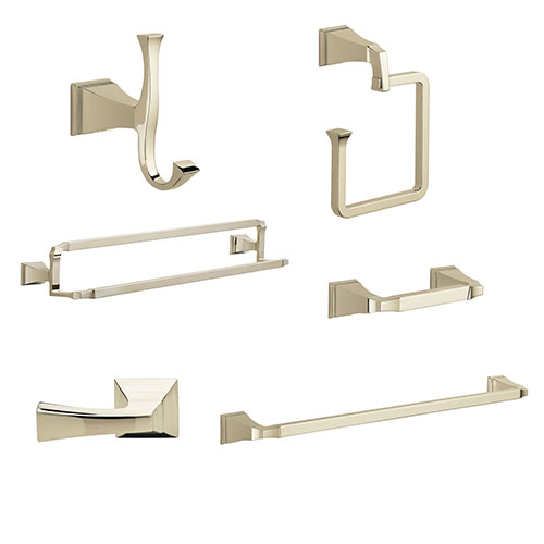 Delta Dryden Polished Nickel DELUXE Accessory Set: 24