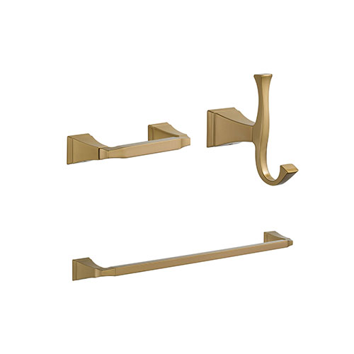 Delta Dryden Champagne Bronze BASICS Bathroom Accessory Set Includes: 24