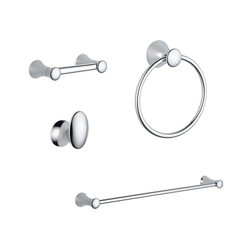 Delta Lahara Chrome DELUXE Bathroom Accessory Set Includes: 24