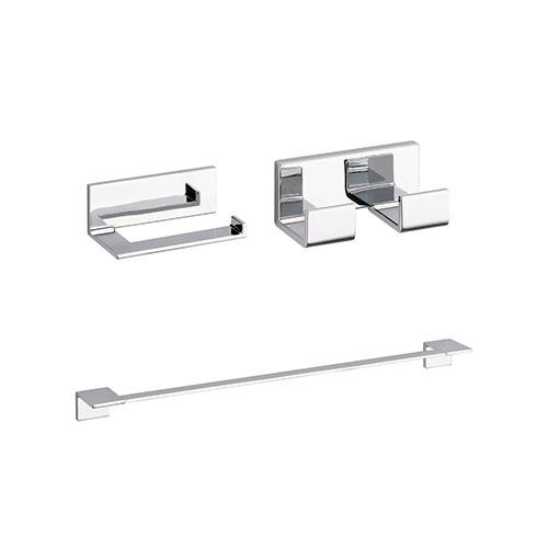 Delta Vero Chrome BASICS Bathroom Accessory Set Includes: 24