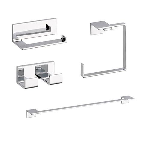 Delta Vero Chrome STANDARD Bathroom Accessory Set Includes: 24
