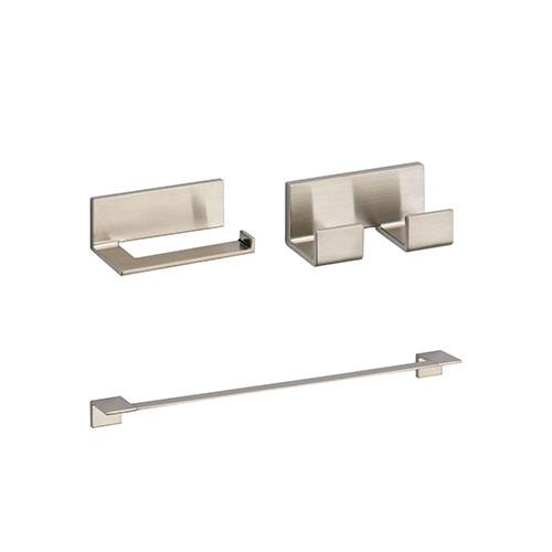 Delta Vero Stainless Steel Finish BASICS Bathroom Accessory Set Includes: 24