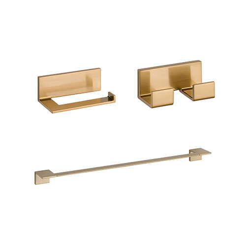 Delta Vero Champagne Bronze BASICS Bathroom Accessory Set Includes: 24