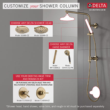 Required Fixtures for Installing a Delta Emerge Shower Column