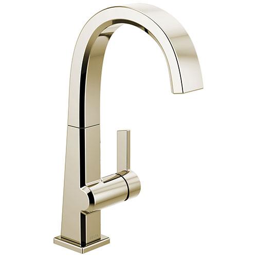 Delta Pivotal Polished Nickel Finish Single Handle Bar Sink Faucet D1993LFPN