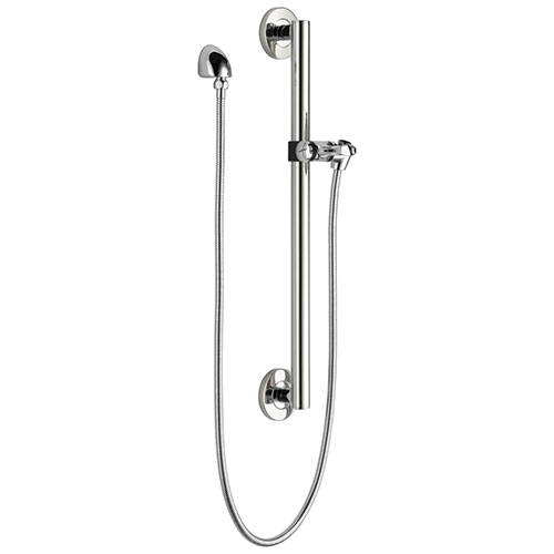 Delta Chrome Finish Modern Slide Bar / Grab Bar Assembly with Adjustable Mounting Bracket, Wall Elbow, and Hose (Requires Hand Spray) D51600