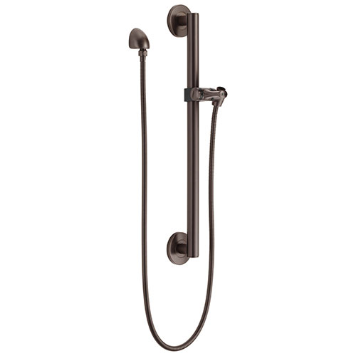 Delta Venetian Bronze Finish Modern Slide Bar / Grab Bar Assembly with Adjustable Mounting Bracket, Wall Elbow, and Hose (Requires Hand Spray) D51600RB