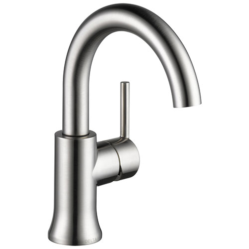 Delta Trinsic Stainless Steel Finish Single Handle High-Arc Bathroom Faucet D559HASSDST
