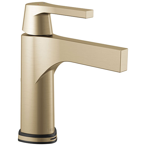 Delta Zura Champagne Bronze Finish Single Handle Bathroom Faucet with Touch2O.xt Technology D574TCZDST