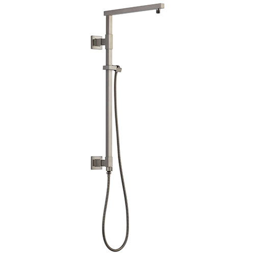 Delta Stainless Steel Finish Emerge Modern Angular Square Shower Column 26
