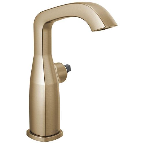Delta Stryke Champagne Bronze Finish Mid-Height Bathroom Faucet Less Handle D676CZLHPDST