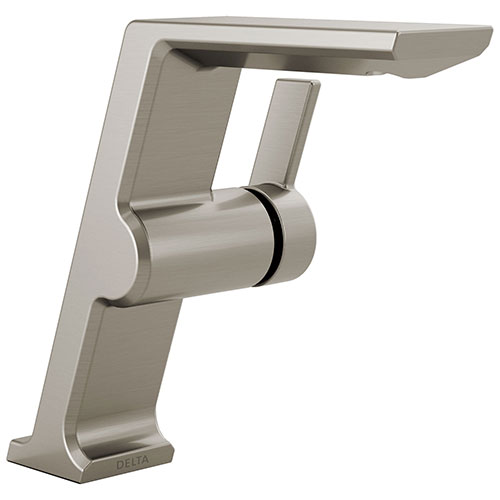 Delta Pivotal Stainless Steel Finish Single Handle Mid-Height Bathroom Sink Faucet D699SSDST