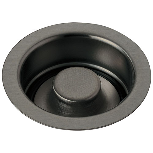 Delta Contemporary Black Stainless Steel Finish Kitchen Sink Disposal and Flange Stopper D72030KS