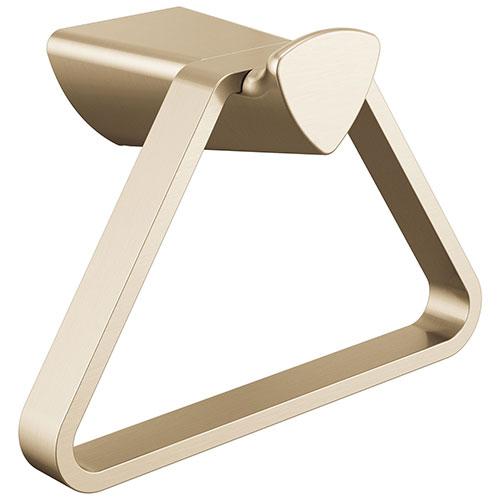 Delta Zura Champagne Bronze Finish Triangular Hand Towel Ring Holder D77446CZ