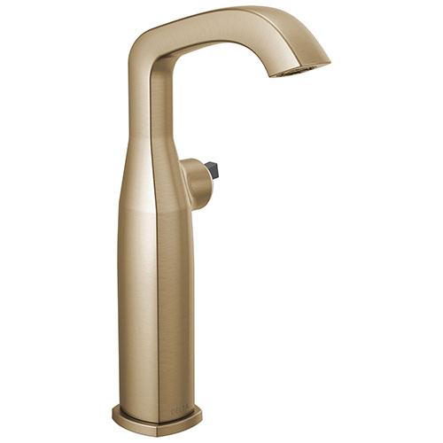 Delta Stryke Champagne Bronze Finish Vessel Sink Faucet Less Handle D776CZLHPDST
