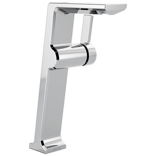 Delta Pivotal Chrome Finish Single Handle Modern Vessel Bathroom Faucet D799DST