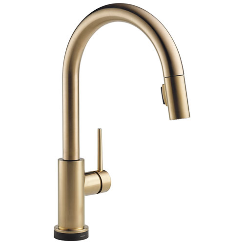 Delta Trinsic Champagne Bronze Finish VoiceIQ Single-Handle Pull-Down Kitchen Faucet with Touch2O Technology D9159TVCZDST