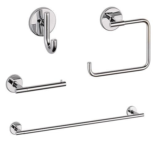 Delta Trinsic Chrome STANDARD Bathroom Accessory Set Includes: 24