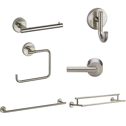 Delta Trinsic Stainless Steel Finish DELUXE Accessory Set: 24