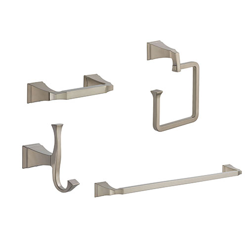 Delta Dryden Stainless Steel Finish STANDARD Bathroom Accessory Set Includes: 24
