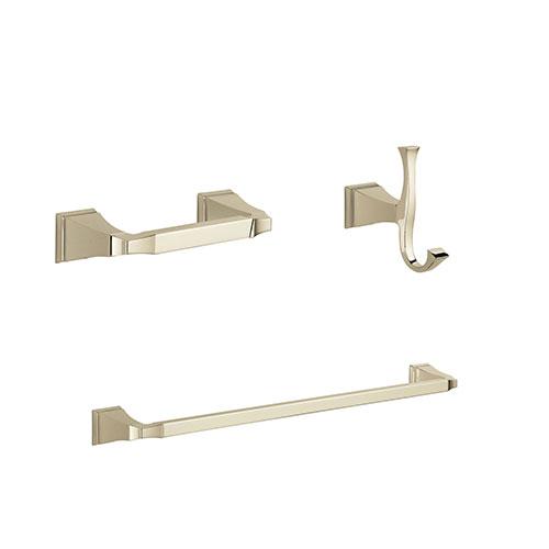 Delta Dryden Polished Nickel BASICS Bathroom Accessory Set Includes: 24