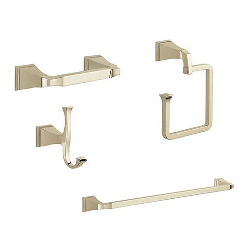 Delta Dryden Polished Nickel STANDARD Bathroom Accessory Set Includes: 24