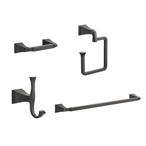 Delta Dryden Venetian Bronze STANDARD Bathroom Accessory Set Includes: 24