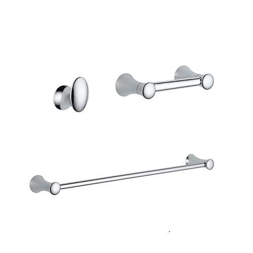 Delta Lahara Chrome BASICS Bathroom Accessory Set Includes: 24