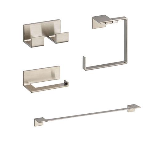Delta Vero Stainless Steel Finish STANDARD Bathroom Accessory Set: 24