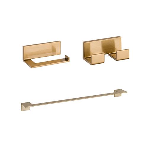 Delta Vero Champagne Bronze BASICS Bathroom Accessory Set Includes: 24