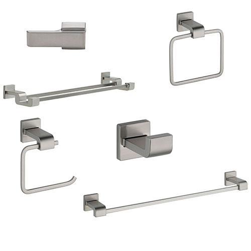 Delta Ara Stainless Steel Finish DELUXE Accessory Set: 24