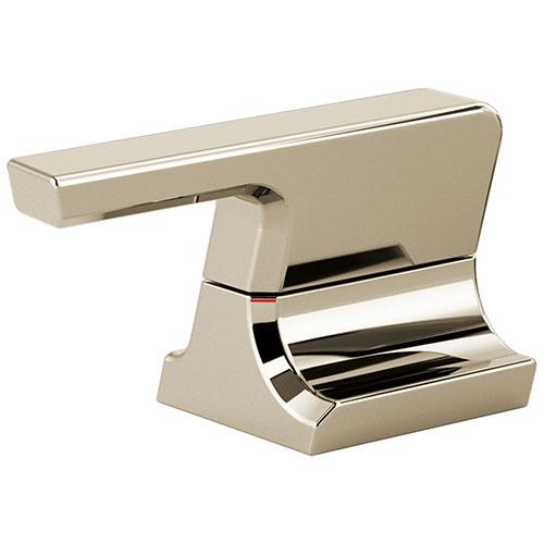 Delta Pivotal Polished Nickel Finish Metal Bathroom Faucet Lever Handle Set DH299PN