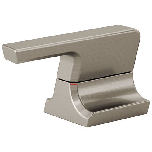Delta Pivotal Stainless Steel Finish Metal Bathroom Faucet Lever Handle Set DH299SS
