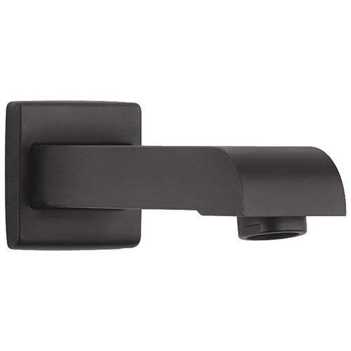Delta Ara Matte Black Finish Non-Diverter Tub Spout DRP48333BL