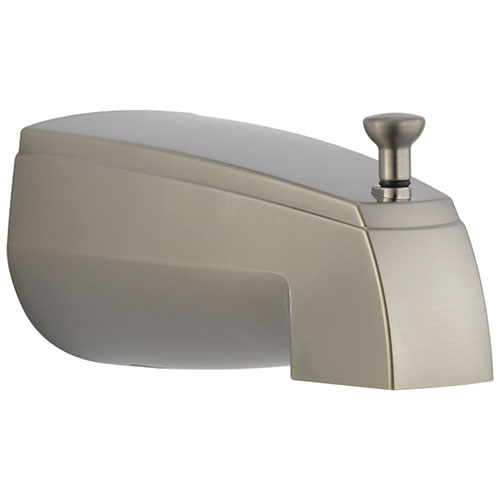 Delta Stainless Steel Finish Tub Spout with Pull-Up Diverter DRP5834SS