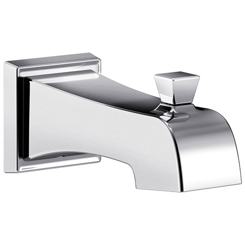 Delta Flynn Chrome Finish Tub Spout with Pull-Up Diverter DRP77091