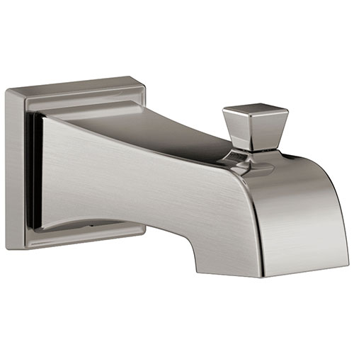 Delta Flynn Stainless Steel Finish Tub Spout with Pull-Up Diverter DRP77091SS