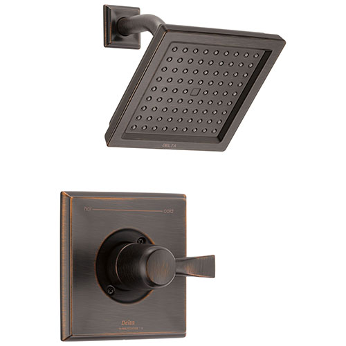 Delta Dryden Venetian Bronze Finish 14 Series Water Efficient Shower only Faucet Includes Single Handle, Cartridge, and Valve without Stops D3513V