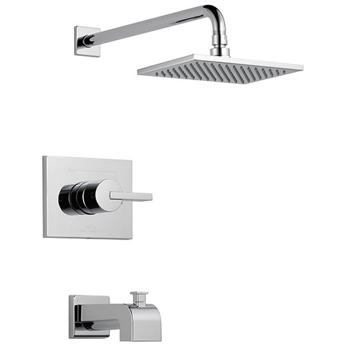 Delta Vero Chrome Finish Monitor 14 Series Water Efficient Tub & Shower Combination Faucet Trim Kit (Requires Valve) DT14453WE