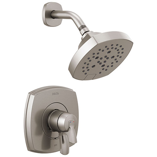 Delta Stryke Stainless Steel Finish 17 Series Shower Only Faucet Trim Kit (Requires Valve) DT17276SS