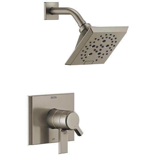 Delta Pivotal Stainless Steel Finish Monitor 17 Series H2Okinetic Shower only Faucet Trim Kit (Requires Valve) DT17299SS