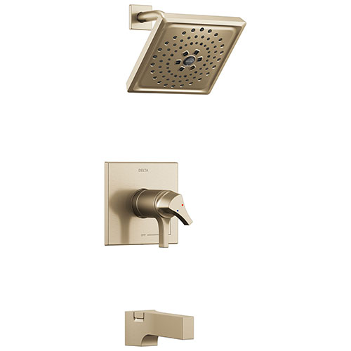 Delta Zura Champagne Bronze Finish TempAssure 17T Series Tub and Shower Combination Faucet Trim Kit (Requires Valve) DT17T474CZ