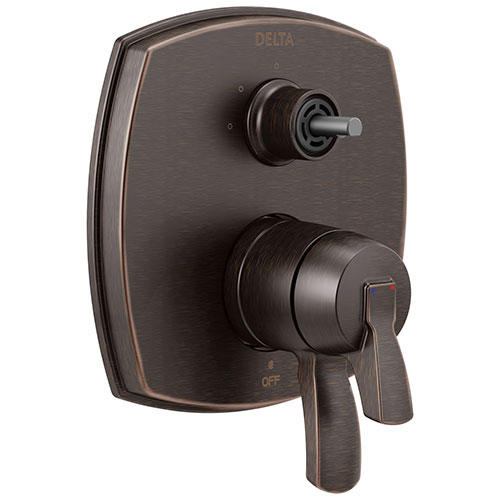 Delta Stryke Venetian Bronze Finish 17 Series Integrated 3-Function Diverter Shower Control Trim Kit Less Diverter Handle (Requires Valve) DT27876RBLHP
